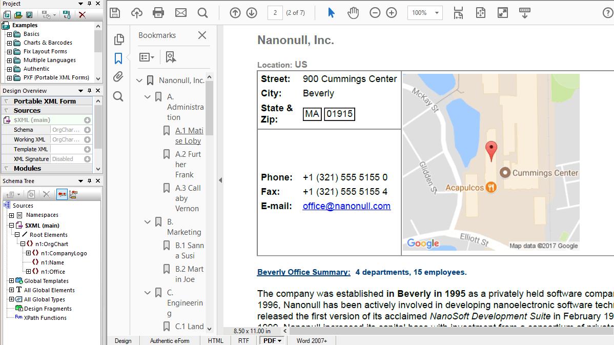 Conversión de datos XML en PDF