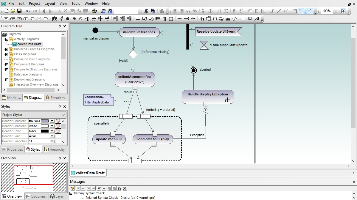 UML Activity Diagram in Altova UModel