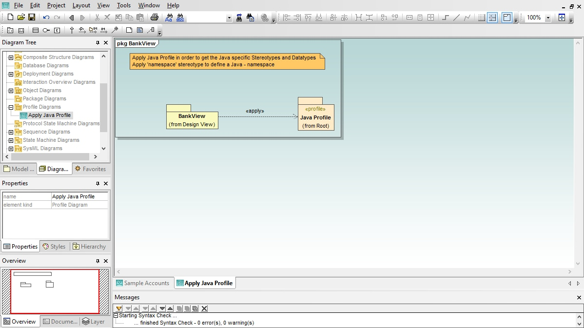 UML Profile Diagram in Altova UModel