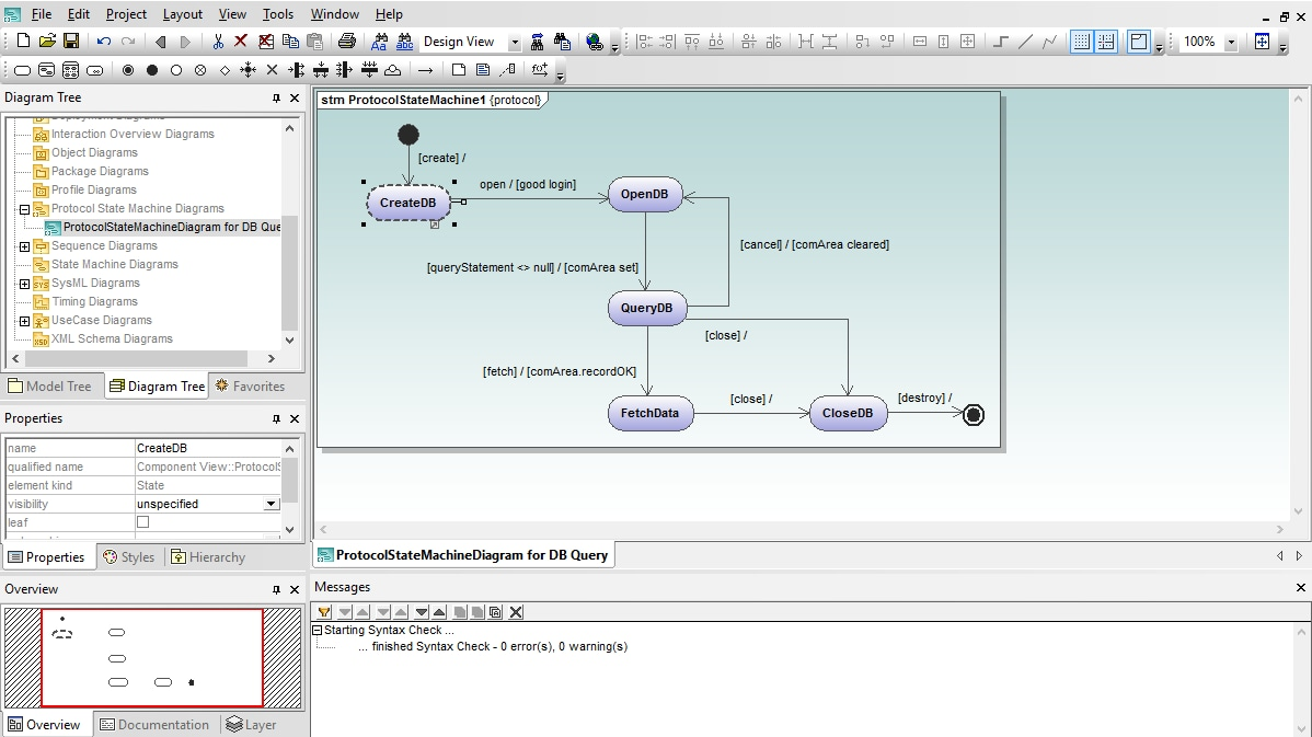 UML Protocol State Machine Diagram in Altova UModel