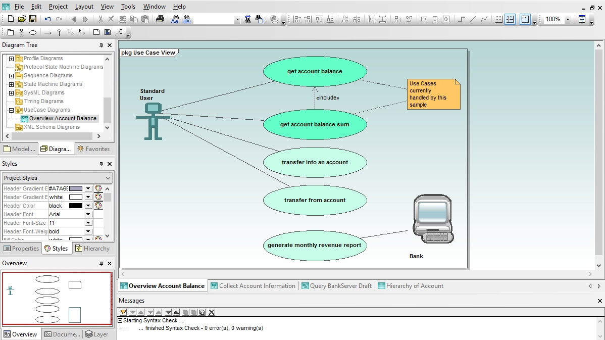 Use Case Diagram in Altova UModel