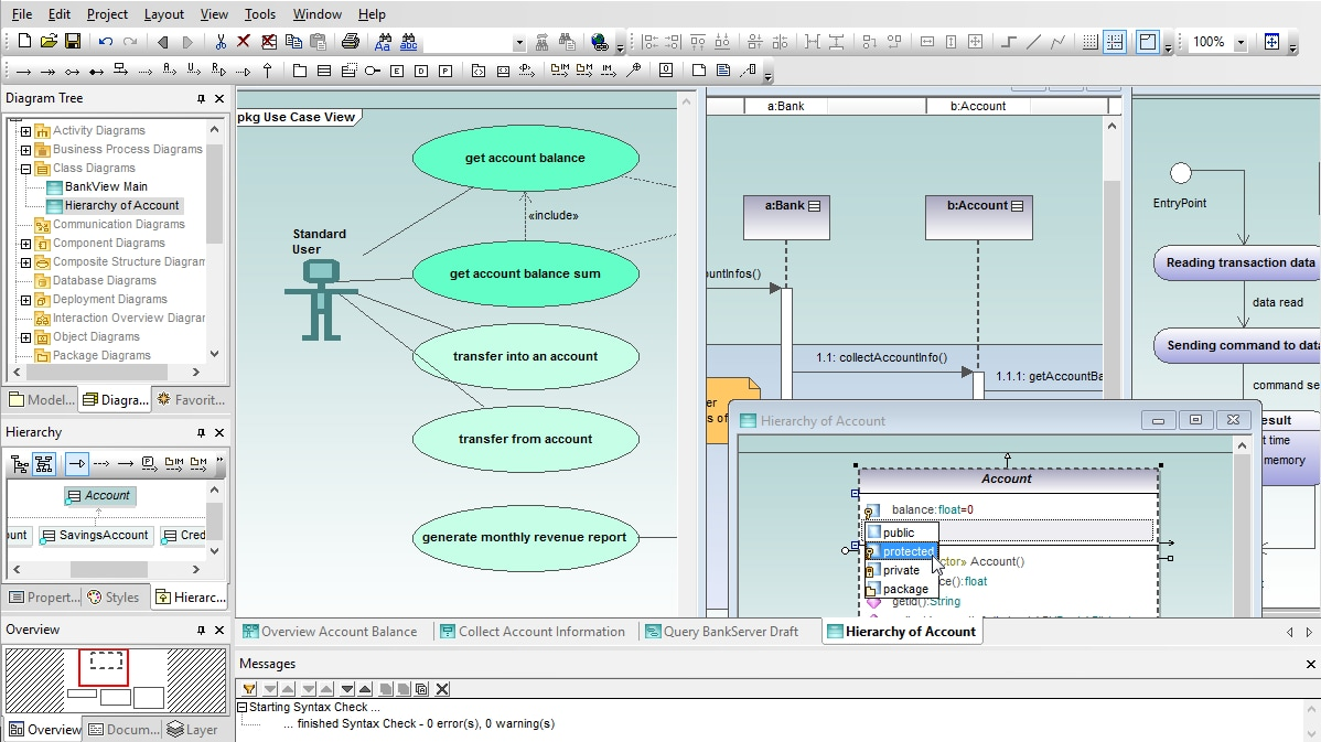 Intuitive UML Modeling with Altova UModel